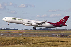 Airbus A340-300 der Air Madagascar