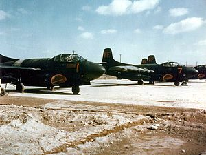Douglas F3D Skyknight - F3D-2s of VMFN-513 at Kunsan, Korea, in 1953