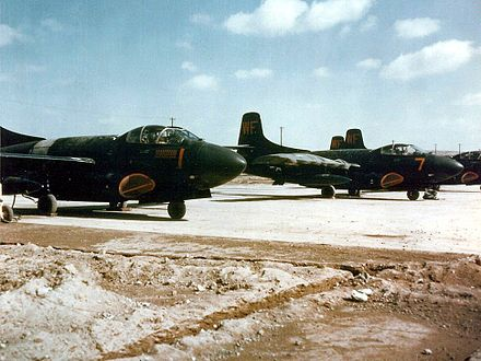 F3D-2s of VMFN-513 at Kunsan, Korea, in 1953 - Douglas F3D Skyknight