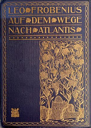 Leo Frobenius - Cover page from Expeditionsbericht der Zweiten Deutschen Inner-Afrika-Expedition (1907-09) Auf dem wege nach Atlantis