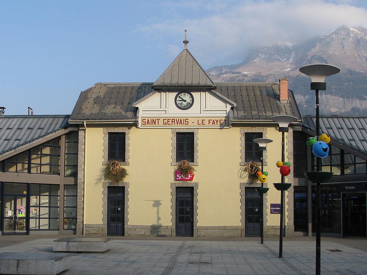 Gare de saint gervais les bains le fayet wikipedia - Office de tourisme saint gervais les bains ...