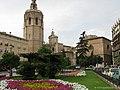 Fachada principal de la Catedral de Valencia desde Plaza de la Reina.jpg