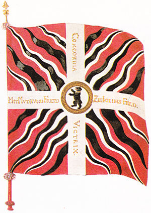 Flammé (vexillology) - 18th century flag of the city of St. Gallen.