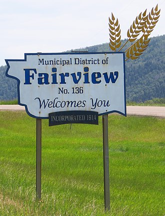 Municipal District of Fairview No. 136 - Image: Fairview MD sign