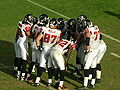 Falcons in huddle at Atlanta at Oakland 11-2-08.JPG