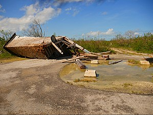 Sugarloaf Key Bat Tower - The tower after Hurricane Irma