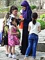 Family Group in Courtyard of Xan Sarayi Palace - Sheki - Azerbaijan (18078143290).jpg