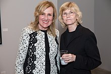 Fay Gold (left) with artist Sandy Skoglund (right).jpg