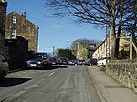 Featherbank Lane, Horsforth. Looking north-west from the junction with New Road Side