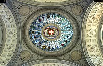 Unus pro omnibus, omnes pro uno - Image: Federalpalace dome