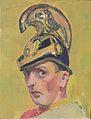 Felix Esterl - Selbstbildnis mit Dragonerhelm - ca1927.jpeg