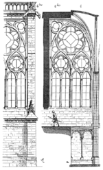 Disegno dei muri della cappella di San Luigi (da Eugéne Viollet-le-Duc, Dictionary of French Architecture from 11th to 16th Century, 1856