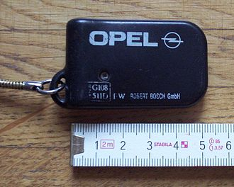 Immobiliser - Keyfob of a first-generation immobiliser