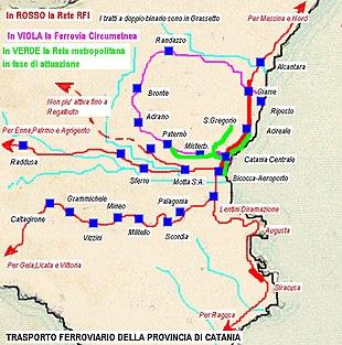 Cartina Ferroviaria Sicilia.Rete Ferroviaria Della Sicilia Wikipedia