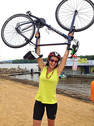 """RAGBRAI - A 2014 finisher's comment: """"A terrific experience, but too much spandex, not enough porta potties."""""""
