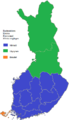 Finnish presidential election, 2012 results by constituency (I round result).png