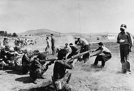 A revolutionary firing squad in 1979 Firing Squad in Iran.jpg