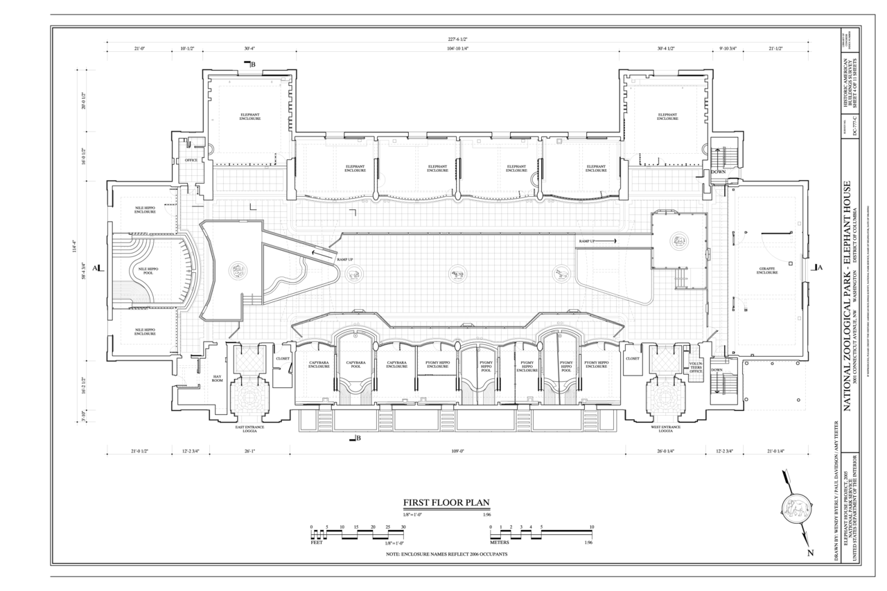 File First Floor Plan National Zoological Park Elephant