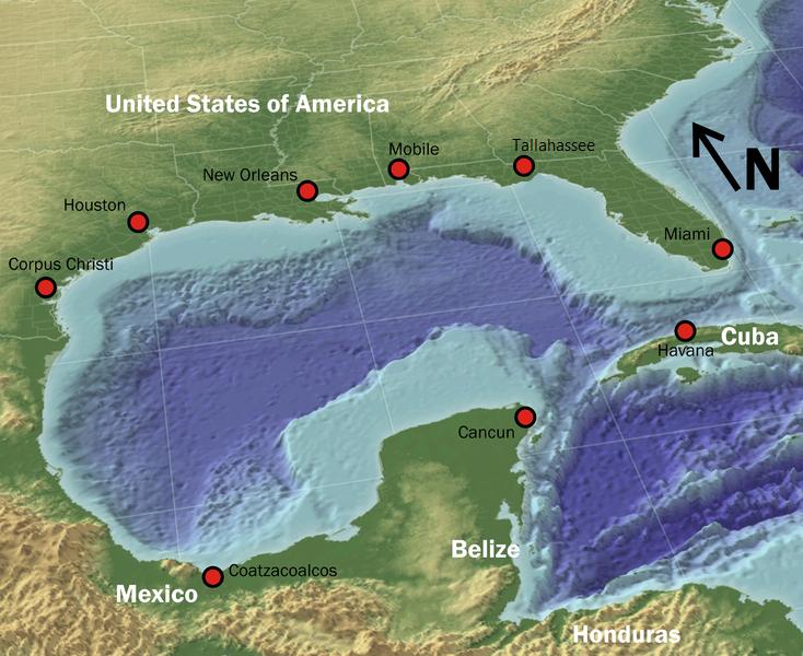 Fixed gulf map