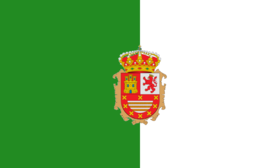 Flag of Fuerteventura with coat of arms.png