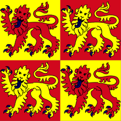12 and 13th century banner of the Princes of Wales