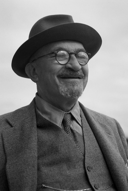 חיים ויצמן בעת כהונתו כנשיא, 26 במרץ 1949