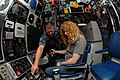 Flickr - Official U.S. Navy Imagery - NC native-Sailor explains the ship's control panel to Dave Mustaine, lead singer of the band Megadeth.jpg
