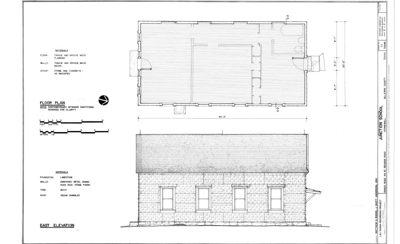 File Floor Plan And East Elevation Lyndon B Johnson