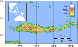 Flores - Topography of Flores