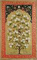 Flowering tree with a bird under an architectural niche (6124546389).jpg