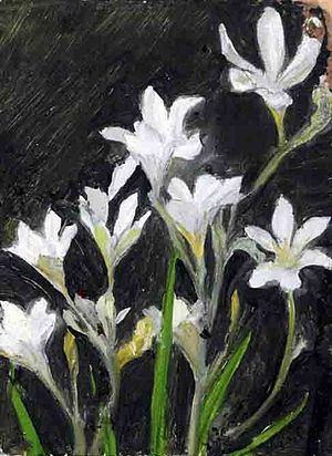 William Caparne - Flowers, by William John Caparne, now in the Guernsey Museum & Art Gallery