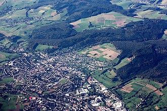 Erbach im Odenwald - Aerial view of Erbach