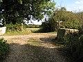Footpath crossing the Downs Link - geograph.org.uk - 1550306.jpg