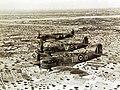 Formation of Spitfires on interception patrol over Djerba Island, Tunisia, WWII (37095900662).jpg