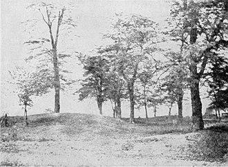 Fort Massac - Fort Massac foundation impression, photograph pre-1920.