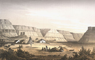 Fort Nez Percés - Fort Nez Percés in 1853.