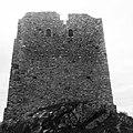 Foto in bianco e nero della facciata della Torre di Satriano (Tito - Basilicata).jpg