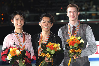 2011 Four Continents Figure Skating Championships - Men's podium