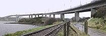 Foyle bridge, railside.jpg
