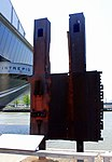 Fragment of the Twin Towers, Intrepid Sea, Air and Space Museum, New York. (45738936735).jpg