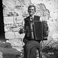 Franc Draksler, gospodar na Kopačiji, organist, godec, Primskovo 1950.jpg