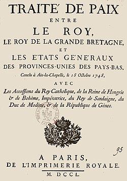 France - Traité de paix conclu à Aix-la-Chapelle le 18 octobre 1748.jpg