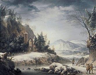 Francesco Foschi - Image: Francesco Foschi Paesaggio invernale con escursionisti