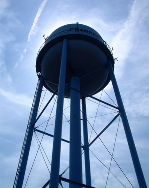 Francesville, Indiana - The town's water tower.