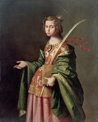 Elizabeth of Hungary - Elizabeth of Hungary by Francisco de Zurbarán