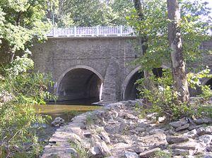 Holmesburg, Philadelphia - Frankford Avenue bridge over the Pennypack Creek