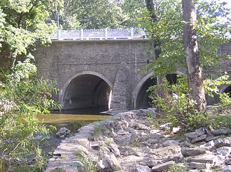 Pennypack Creek - Historic Frankford Avenue Bridge over the Pennypack in Holmesburg