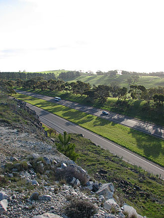 South Eastern Freeway - South Eastern Freeway from Mount Barker Summit