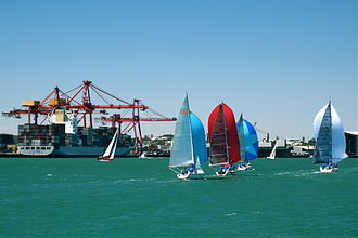 Yachts compete in the annual Fremantle Harbour Classic, held within the confines of the Inner Harbour Fremantle Harbour Classic.jpg