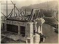 Fremont Bridge under construction, looking south toward Queen Anne, Seattle, October 7, 1916 (MOHAI 4624).jpg